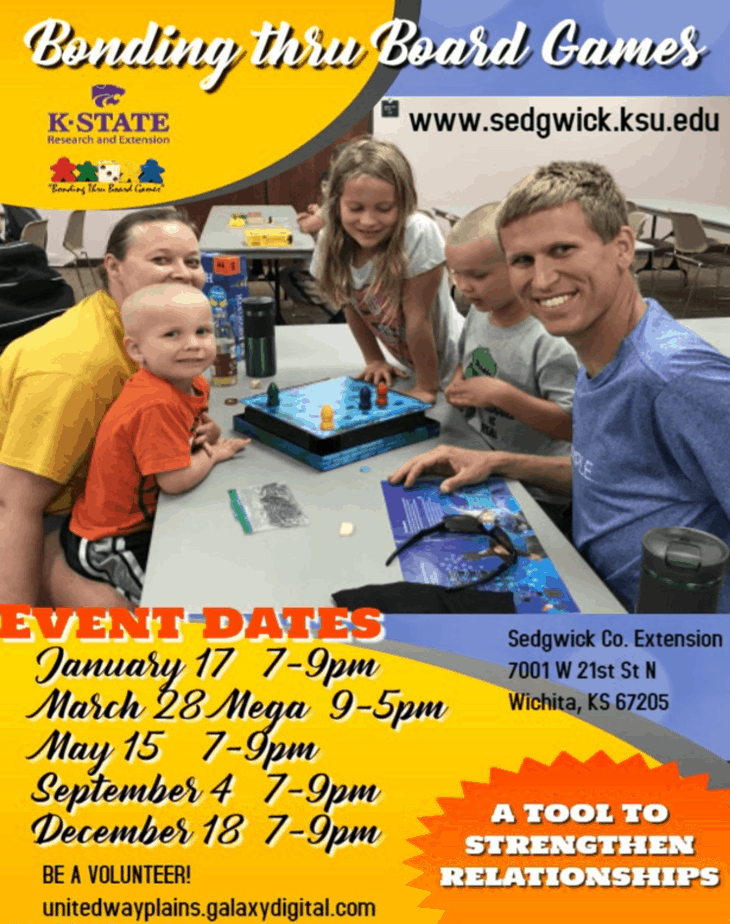 Free board game nights 2020 Sedgwick County Extension