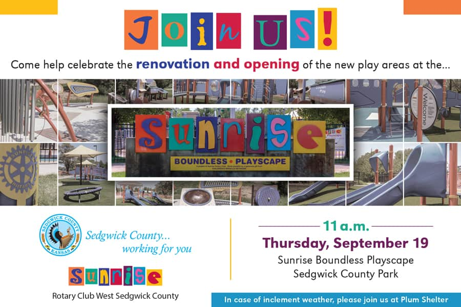 Boundless playscapes renovation and opening of new play areas Sedgwick County Park 2019