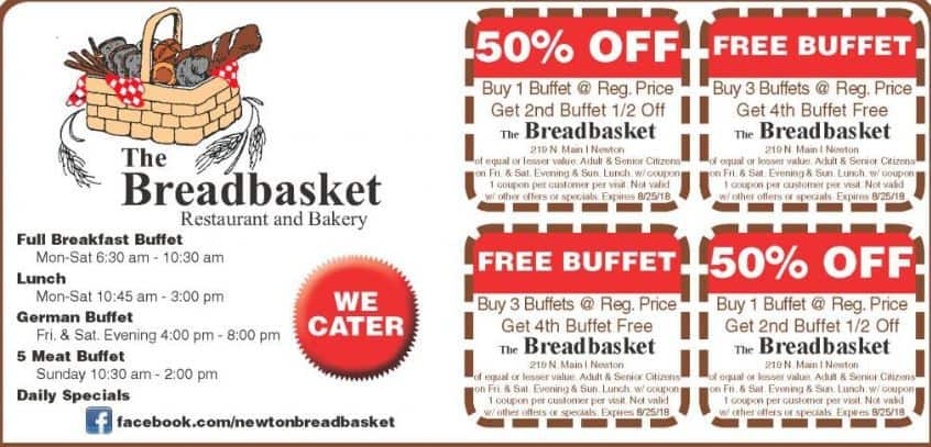 Coupon for Breadbasket in Newton at Buy Local Plus