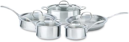 10-piece set of tri ply Calphalon cookware at a big discount