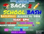 Car show, back to school bash, and bargain backpacks Saturday, Aug 11
