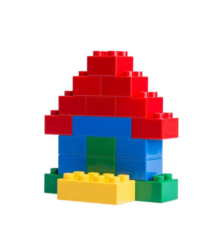 House built with colorful LEGO building blocks