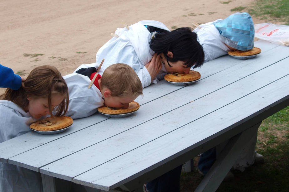 County Fair at Cowtown Pie Eating Contest