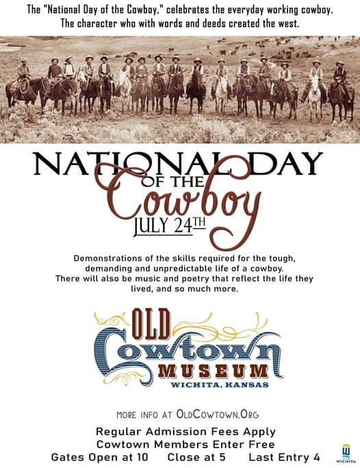 flyer for National Day of the Cowboy 2021 at Cowtown Museum in Wichita