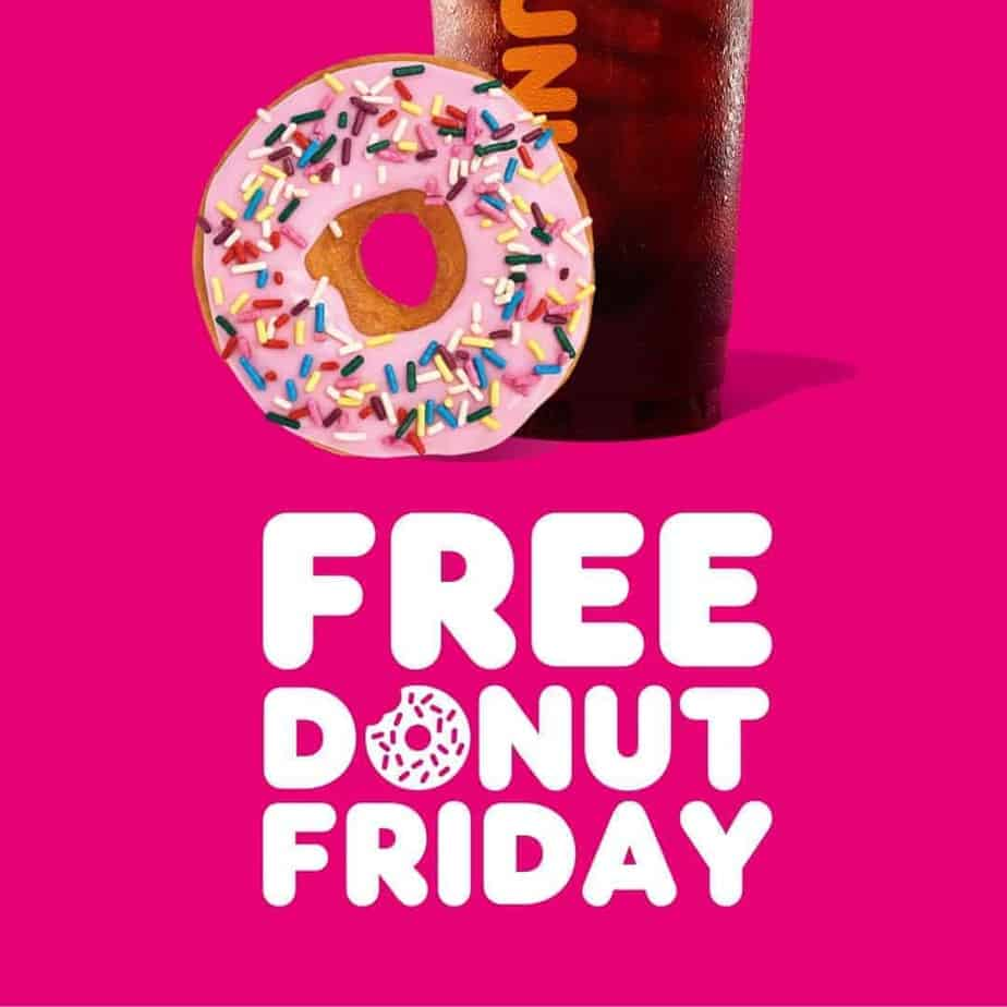 Free Donut Friday for Dunkin Rewards Members