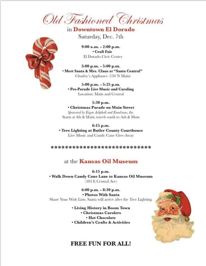 El Dorado Hometown Christmas schedule 2019