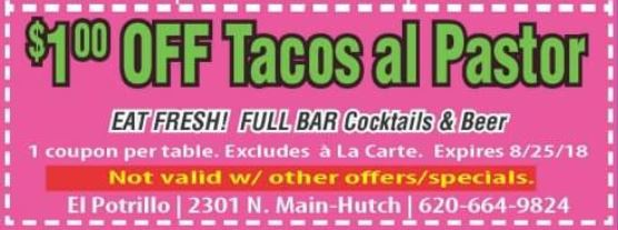 Taco Tuesday everyday with this El Potrillo coupon