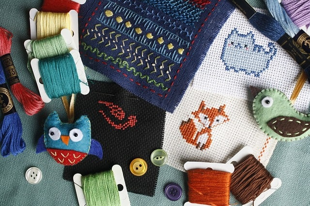 handmade craft items, embroidery, needlework in wichita fall bazaars and christmas craft fairs