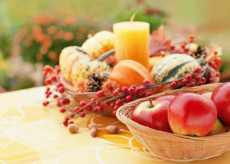 Fall decor, handcrafted, natural centerpiece