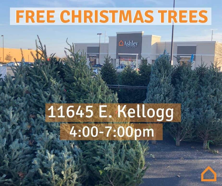 free christmas trees at ashley homestore in east wichita tonight wichita on the cheap. Black Bedroom Furniture Sets. Home Design Ideas