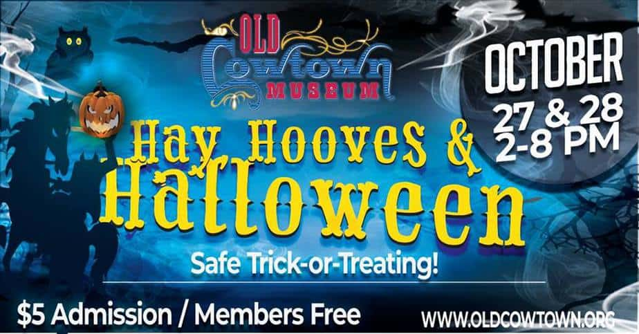 hay hooves and halloween 2018 flyer for cowtown halloween family friendly event