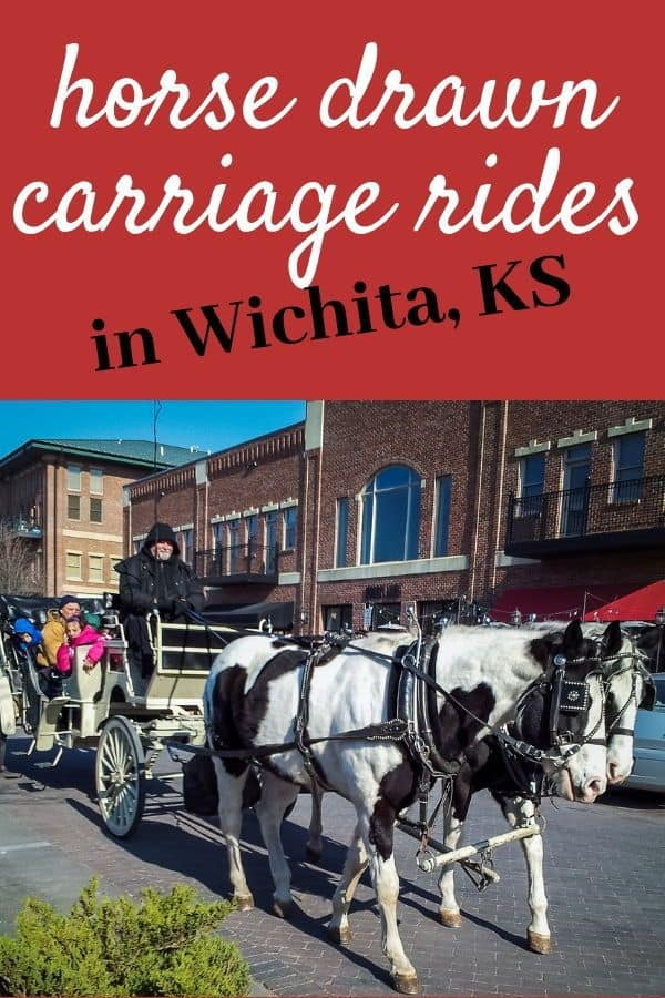 Need a fun holiday family activity or romantic weekend date? Try a horse drawn carriage ride! #horses #carriage #christmas #holiday #datenight #familyfun Horse-drawn carriage rides in Wichita, including Old Town, Bradley Fair, the Waterfront, and more!