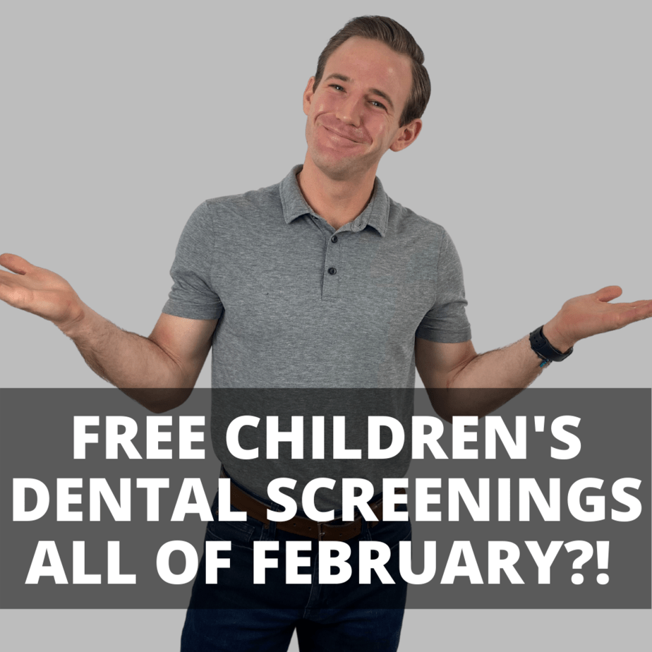 Dr. Houlik free chidlren's dental screenings all of february and march