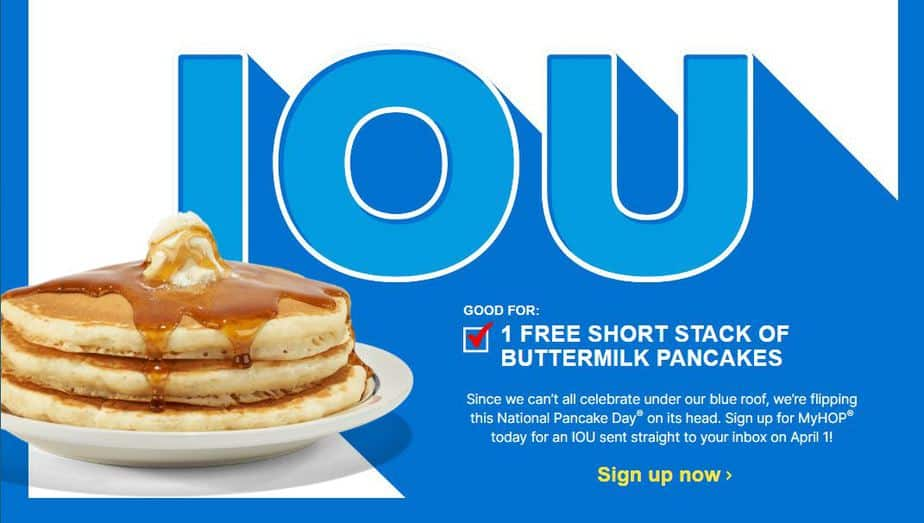 IHOP IOU screenshot