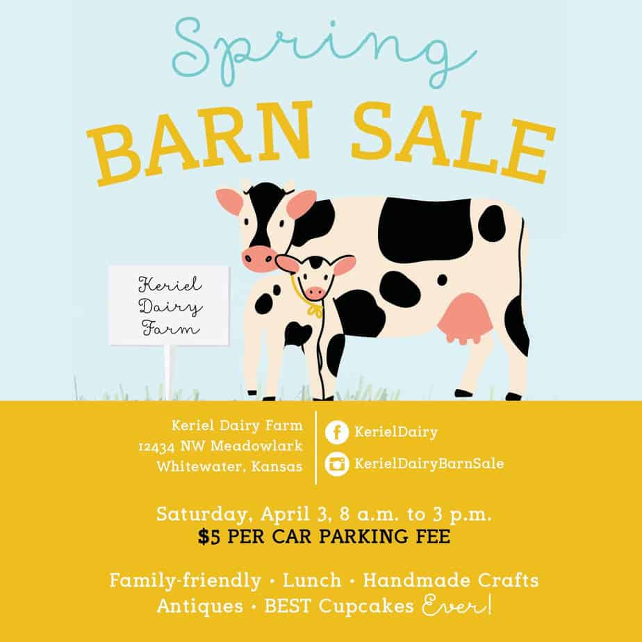 Flyer for Keriel Dairy spring 2021 barn sale