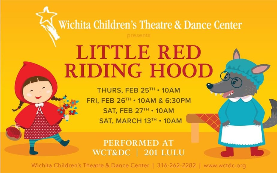 flyer for little red riding hood at wichita childrens theatre