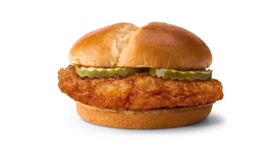 McDonalds new crispy chicken sandwich