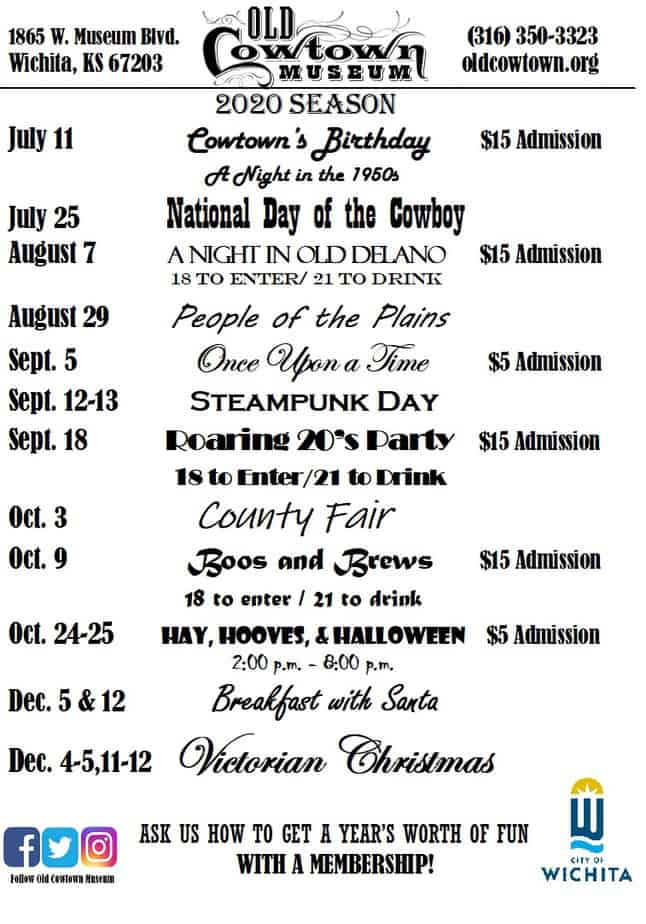 old cowtown museum 2020 schedule of events