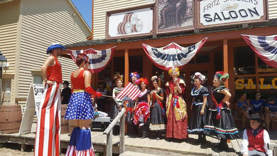 Fourth of July Independence Day party at Cowtown