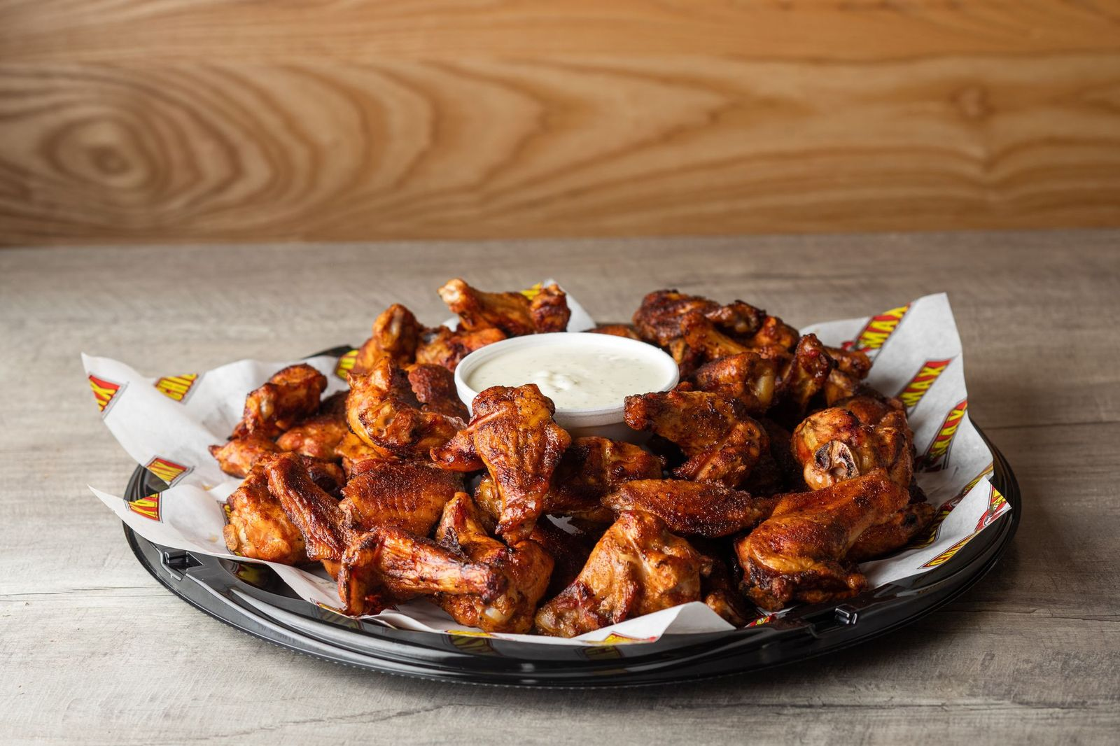 Chicken wings - 50 for $30 from Chicken Max Wichita for 4th of July