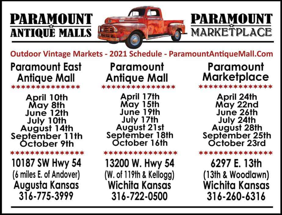Paramount Antiques Market Schedule for 2021