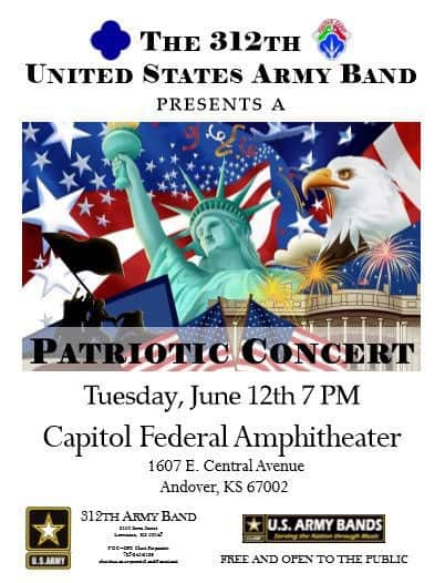 Patriotic summer concert in Andover Central Park