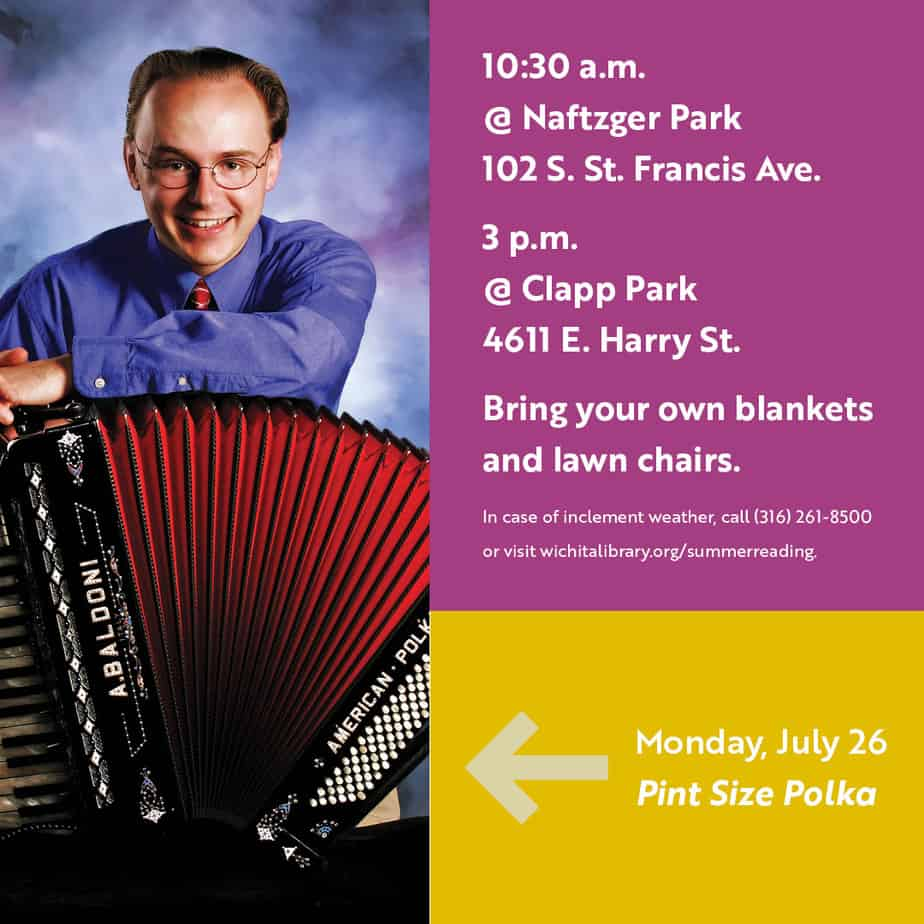 Pint Size Polka live performance in Naftzger and Clapp Parks