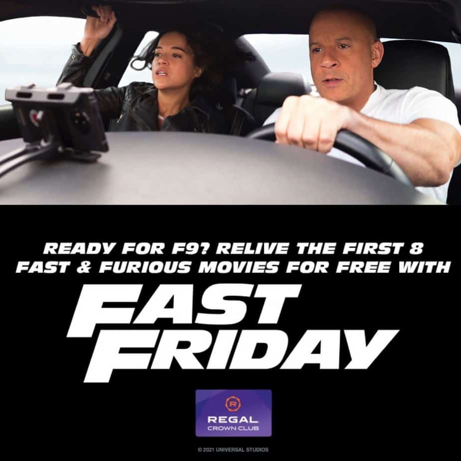 Free tickets to Fast & Furious movies at Regal Cinemas