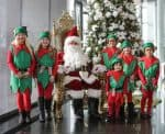 Wichita Art Museum Santa plus elves during the annual holiday open house