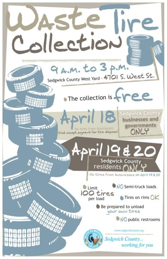 Waste tire collection Sedgwick County 2019 flyer