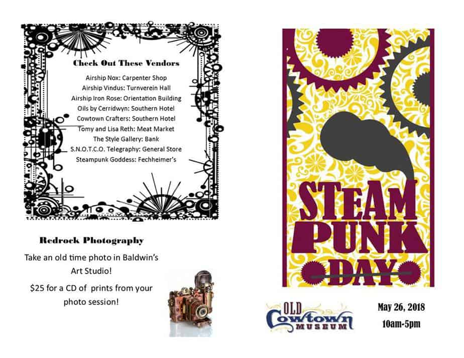 2018 Steampunk Day program at Old Cowtown Museum in Wichita