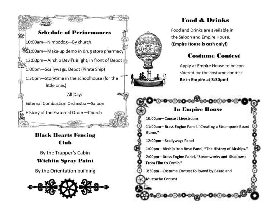 Old Cowtown Steampunk Day program