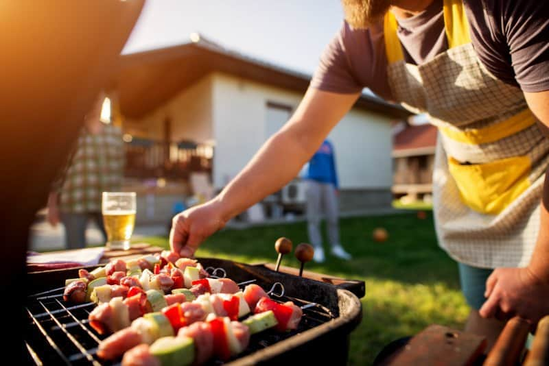 Grilling at home - summer cookout