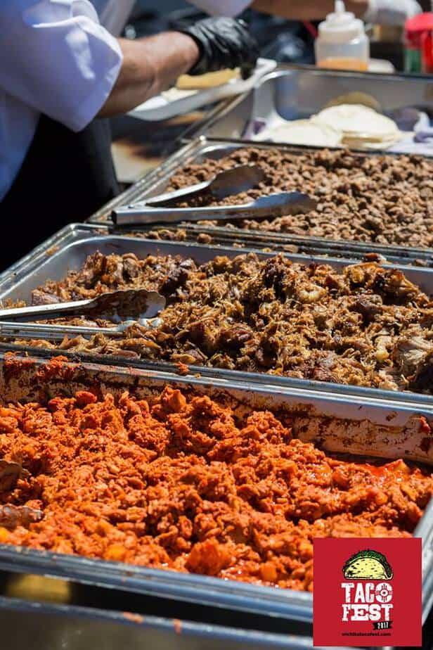 Taco meat at Wichita Taco Fest