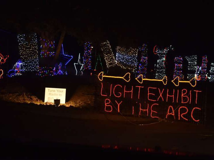 The Arc of Sedgwick County Drive-through Holiday Lights Display Wichita KS