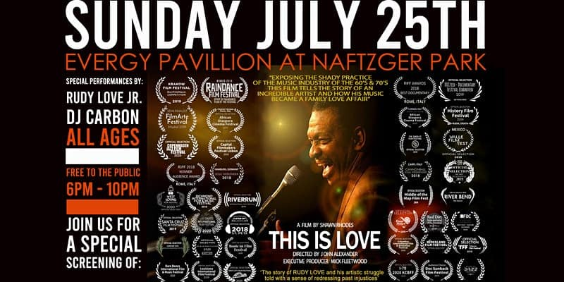 flyer for FREE screening of This is Love documentary