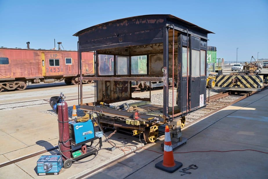 Whitcomb cab reno at the Great Plains Transportation Museum