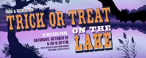 Wichita park & recreation trick or treat on the lake at Watson park 2019